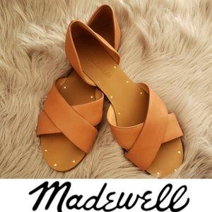 Madewell Thea Crisscross Leather Sandal Size 6.5